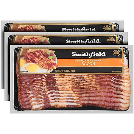 Smithfield Naturally Hickory Smoked Bacon (3 lbs.)