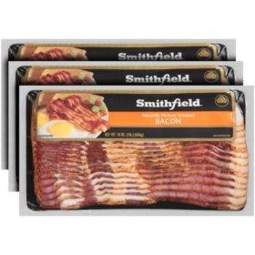 Smithfield Naturally Hickory Smoked Bacon (3 lb.)