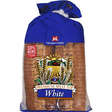 Member's Mark® Split Top White Bread - 2/32oz VIEW ONLY