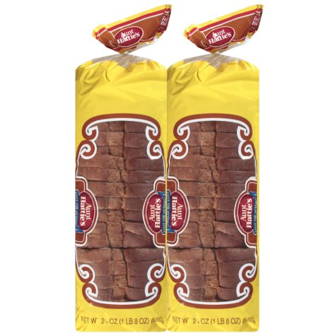 Aunt Hattie's Homestyle Wheat Bread (24 oz., 2 pk.)