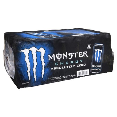 Monster Energy Drink, Absolutely Zero, Low Calorie (16 oz. cans, 24 ct.)