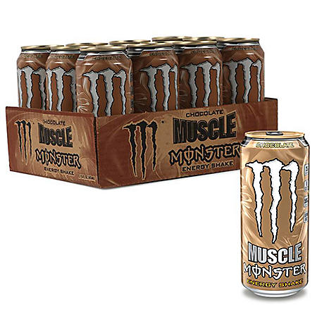 Monster Muscle Energy Shake - 15 oz. cans - 12 pk.