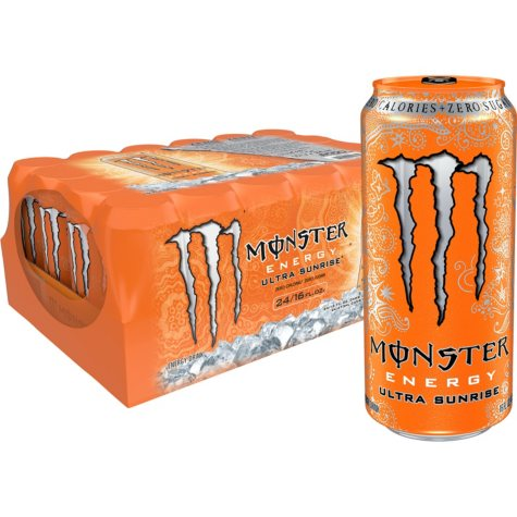 Monster Energy Drink, Ultra Sunrise, Sugar Free (16 oz. cans, 24 ct.)