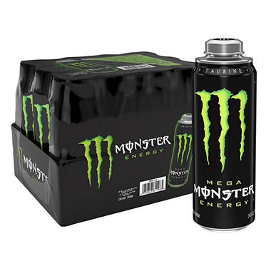 Mega Monster Energy (24 oz. can, 12 pk.)