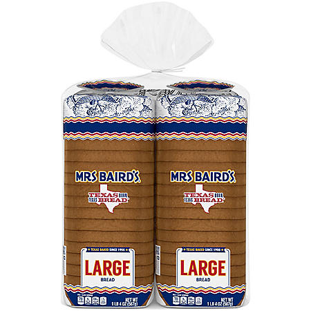 Mrs. Baird's Large White Bread (20oz / 2pk)