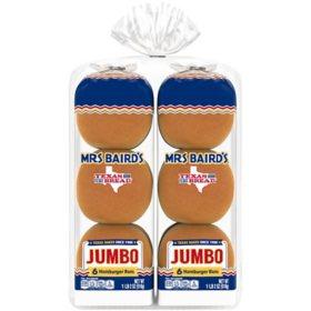 "Mrs Baird's 5"" Hamburger Buns - 12 ct."