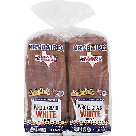 Mrs Baird's Whole Grain White Bread (20oz / 2pk)