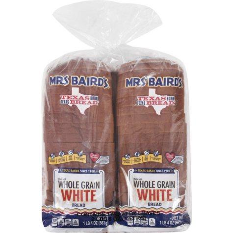 Mrs Baird's Whole Grain White Bread - 20 oz. Loaf - 2 pk.