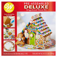 Wilton Pre-Assembled Deluxe Gingerbread House Decorating Kit