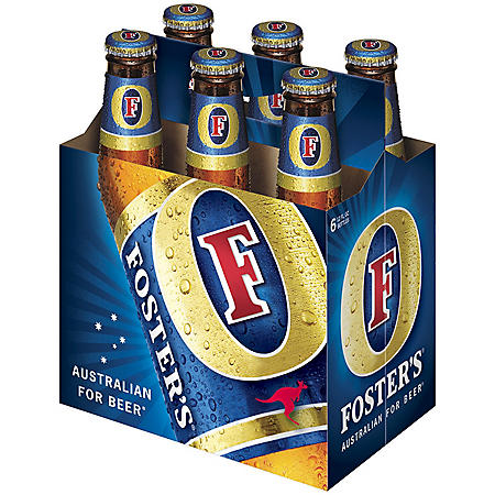 FOSTERS LAGER 6 / 12 OZ BOTTLES