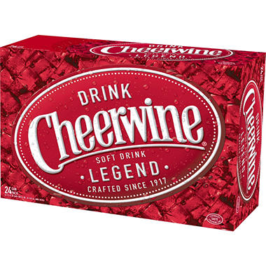 Cheerwine Cherry Soft Drink - 12 oz. - 24 pk.