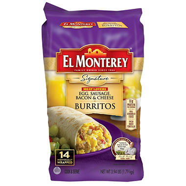 El Monterey Meat Lovers Breakfast Burrito (14 ct.)