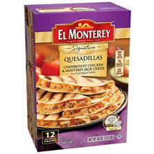El Monterey Charbroiled Chicken and Monterey Jack Cheese Quesadillas (48 oz., 12 ct.)