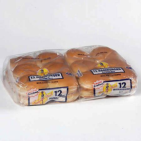 Evangeline Maid Hamburger Buns - 2/ 12 ct.