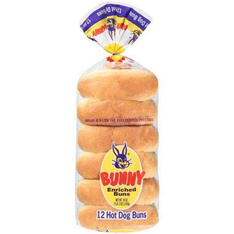 Bunny Hot Dog Buns - 1/ 12 pk.
