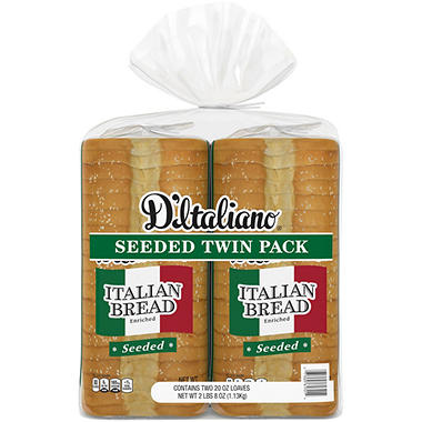 D'Italiano Seeded Italian Bread (20 oz., 2 ct.)