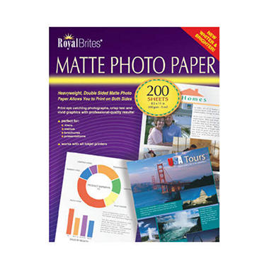 Royal Brites Matte Photo Paper 200 Ct Sams Club