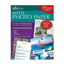"Royal Brites - Photo Paper, Inkjet/Laser, 8-1/2 x 11"", Matte - 100 Sheets"