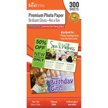 "Royal Brites Glossy Photo Paper 4"" x 6"" (300 ct.)"