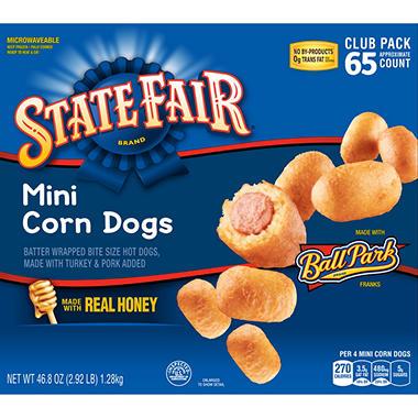 State Fair Mini Corn Dogs 65 Ct Sams Club