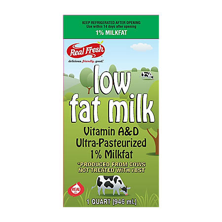 Real Fresh 1% Low Fat Milk (32 oz.)