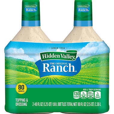 Hidden Valley The Original Ranch Dressing (40 fl. oz. bottle, 2 pk.)