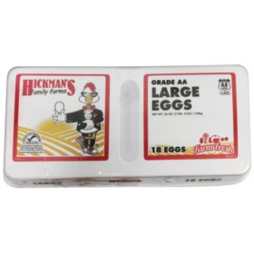 Hckman's Grade AA Large Eggs (18 ct. cartons, 2 pks.)