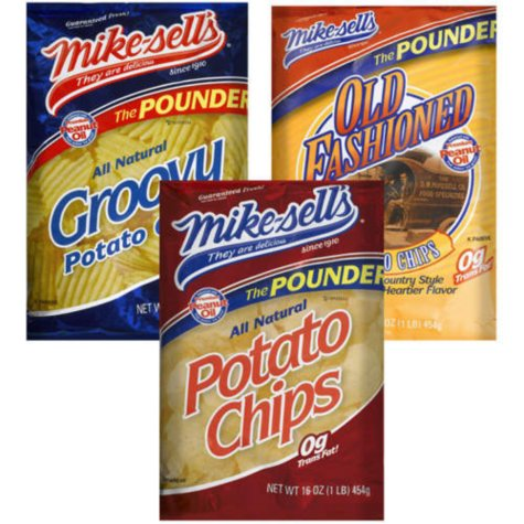 Mike-sell's Potato Chips The Pounder - 16oz