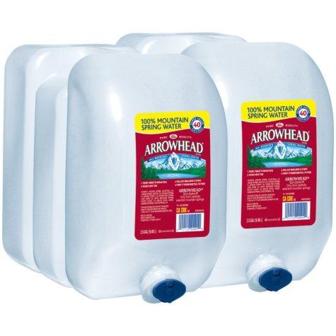 Arrowhead 100% Mountain Spring Water (2.5 gal. jugs, 2 pk.)