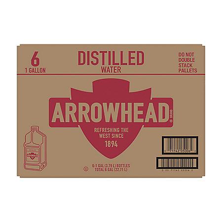 Arrowhead Distilled Water (1 gal. jugs, 6 pk.)