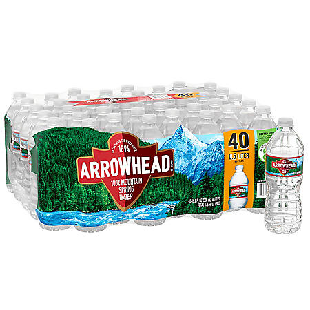 Arrowhead 100% Mountain Spring Water (16.9oz / 40pk)