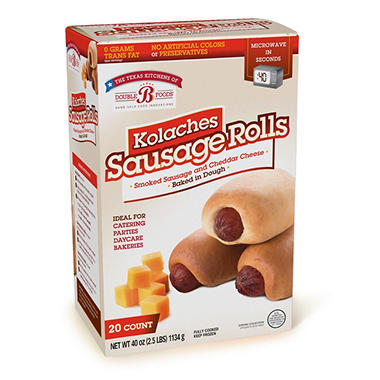 Double B Foods Kolaches Sausage Rolls with Cheese (20 ct.)