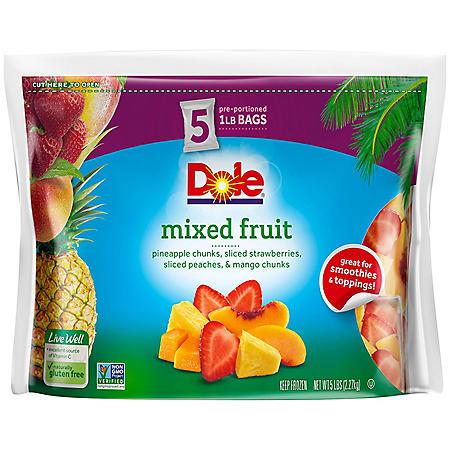 Dole Mixed Fruit (1 lb. bags, 5 pk.)