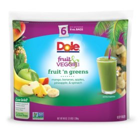 Dole Fruit and Veggie Smoothie Mix, Fruit 'n Greens (6 ct.)
