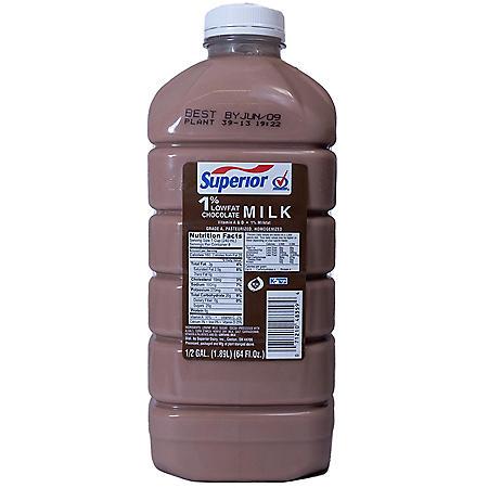 Superior 1% Low Fat Chocolate Milk (1/2 gal.)