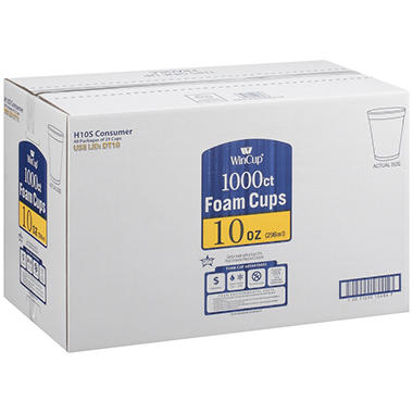 WinCup® Foam Cups - 10 oz./1000 ct.