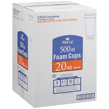 WinCup® Foam Cups - 20 oz./500 ct.