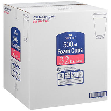 WinCup® Foam Cups - 32 oz./500 ct.