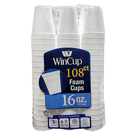 Wincup Foam Cup - 16 oz. - 108 ct.