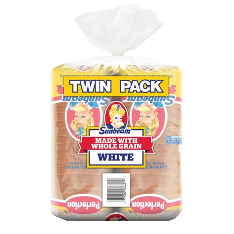 Sunbeam Whole Grain White Bread (48 oz., 2 pk.)