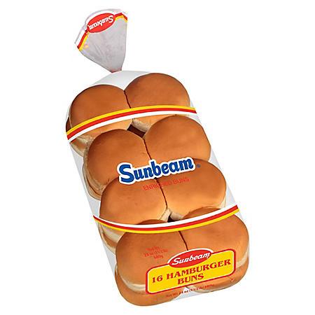 Sunbeam  Hamburger Buns - 16 ct