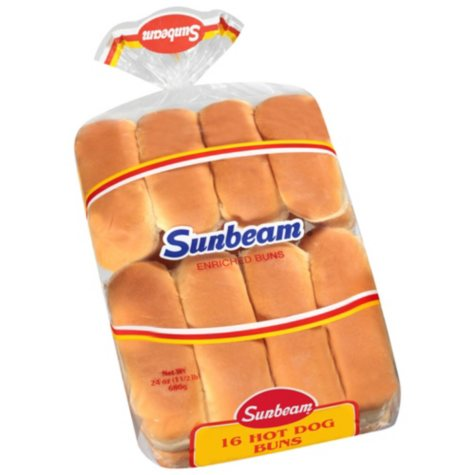 White Hot Dog Buns - 16 ct