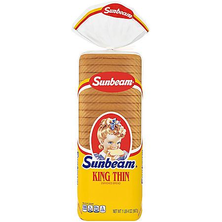 Sunbeam King Thin Enriched Bread (20 oz., 2 pk.)