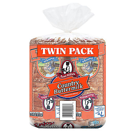 Aunt Millie's Country Buttermilk Bread (48 oz., 2 pk.)