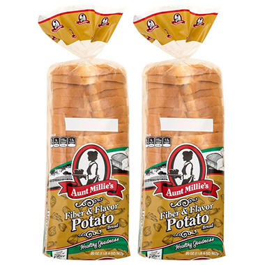 Aunt Millie's Healthy Goodness Fiber & Flavor Potato Bread - 20 oz. - 2 pk.