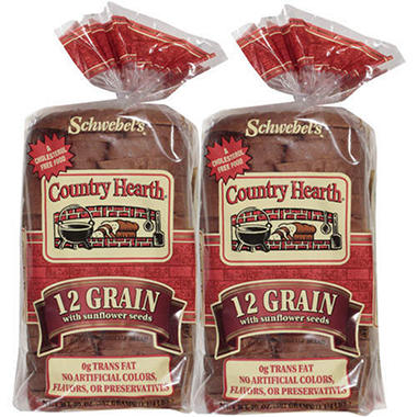 Country Hearth 12-Grain Bread (20 oz., 2 pk.)