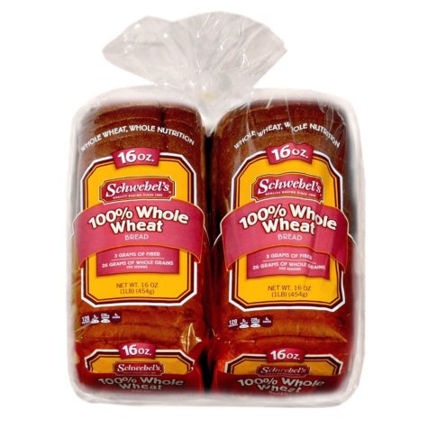 Schwebel's 100% Whole Wheat Bread (2 pk., 32 oz.)
