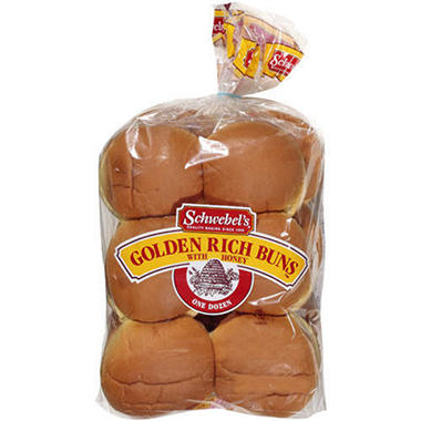 Schwebel's® Golden Rich Buns w/Honey - 12ct