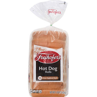 Freihoferu0027s New England Style Hot Dog Rolls (16 Pk.)