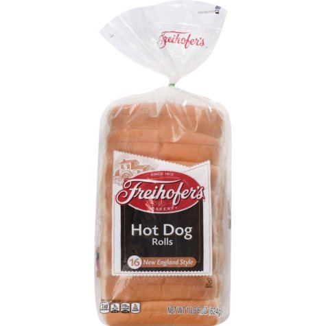 Freihofer's New England Style Hot Dog Rolls (16 pk.)